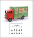 Miniature Calendar Back - November