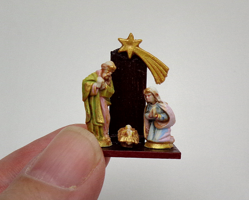 dollhouse miniature nativity set