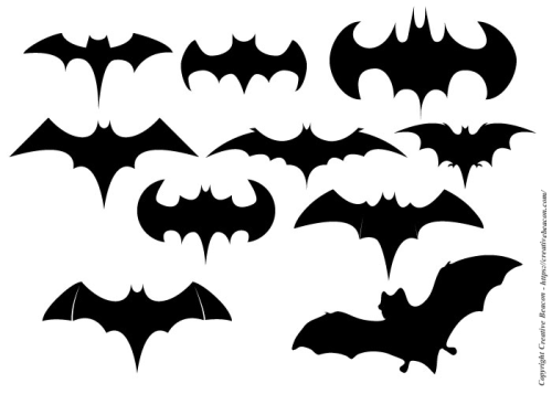 creative beacon - bat shapes for hallowe'en