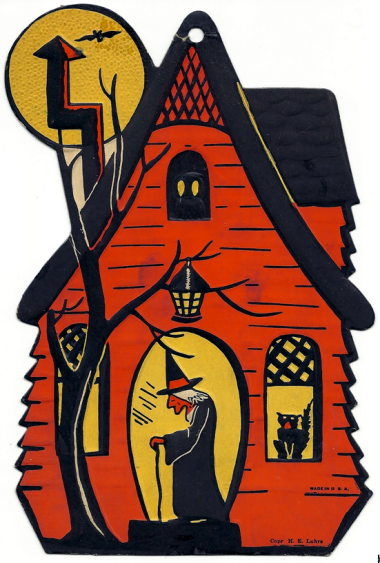halloween house - microsoft clipart