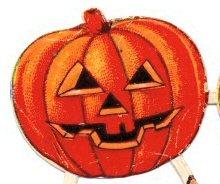 Halloween jack o lantern pumpkin head
