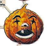 Halloween jack o lantern pumpkin head
