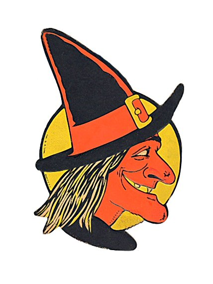 Halloween witch head profile