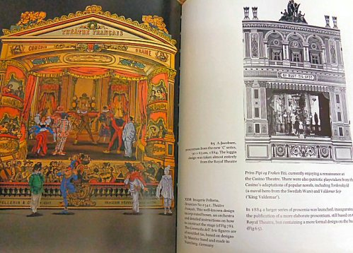 photograph detail of a french theatre from peter baldwin's book - toy theatres of the world