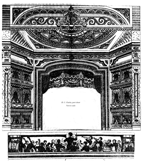 h c clarke - part sheet - toy theatre - not to scale