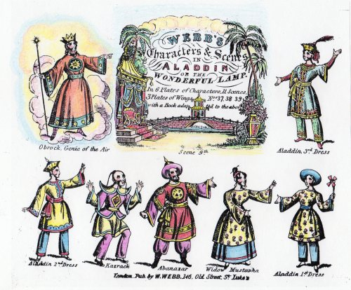 webb's characters and scenes in aladdin or the wonderful lamp - coloured in